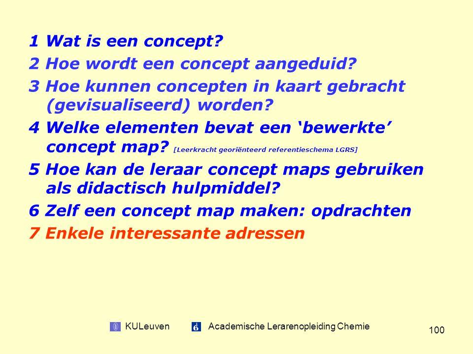 KULeuven Academische Lerarenopleiding Chemie 100 1 Wat is een concept.