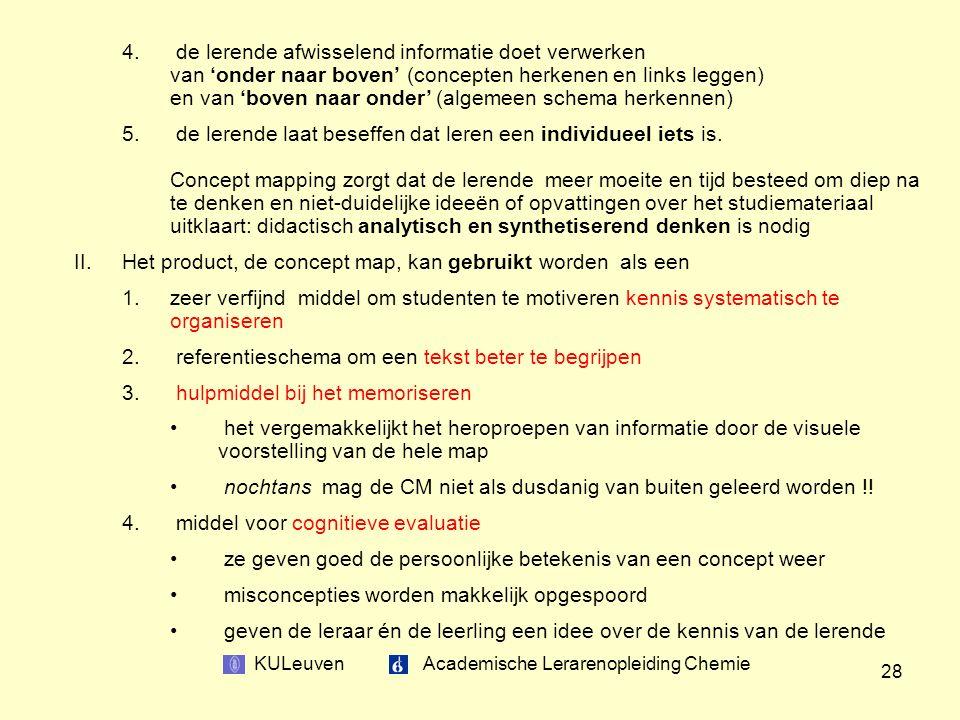 KULeuven Academische Lerarenopleiding Chemie 28 4.