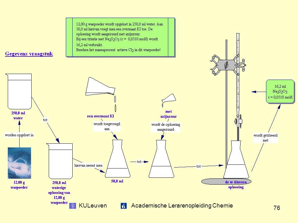 KULeuven Academische Lerarenopleiding Chemie 76
