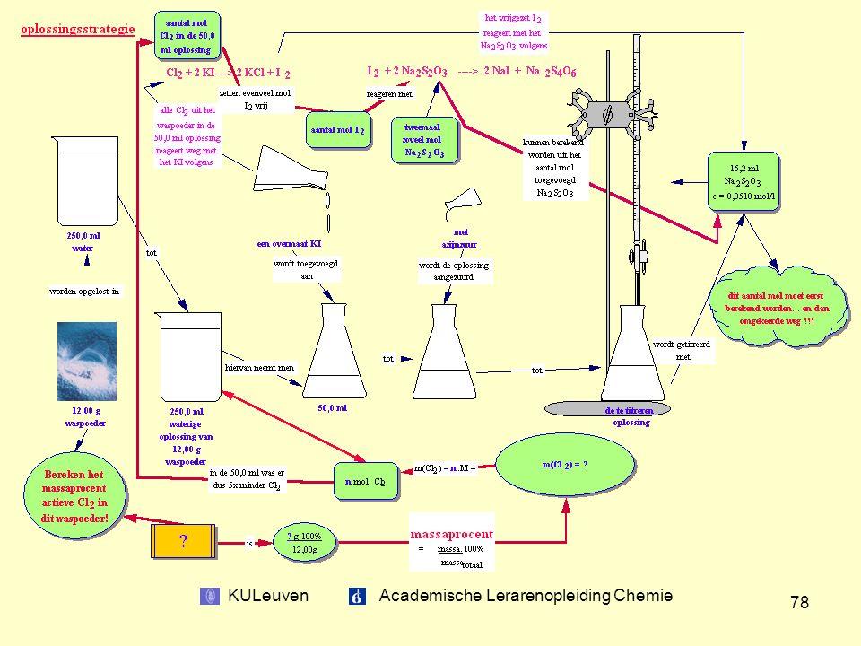 KULeuven Academische Lerarenopleiding Chemie 78