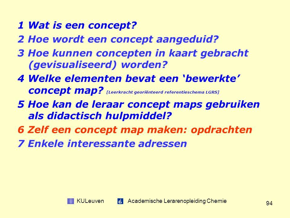 KULeuven Academische Lerarenopleiding Chemie 94 1 Wat is een concept.