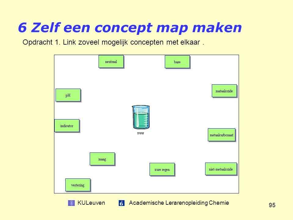 KULeuven Academische Lerarenopleiding Chemie 95 6 Zelf een concept map maken Opdracht 1.