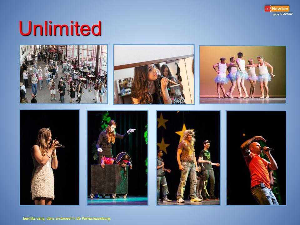 Unlimited Jaarlijks zang, dans en toneel in de Parkschouwburg.