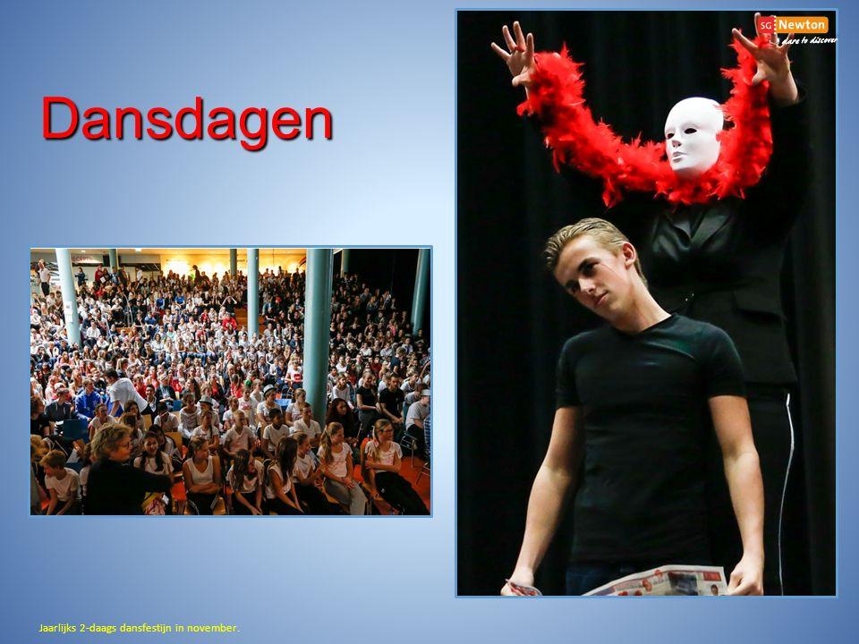 Dansdagen Jaarlijks 2-daags dansfestijn in november.