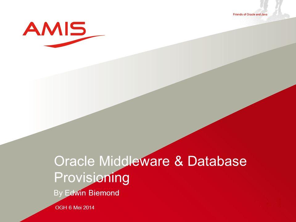 2 Provisioning van de volgende Oracle Componenten Een Oracle database 11.2.0.4 met daarbij SOA Suite repository 11.1.1.7 Tablespaces Users & Roles Een Oracle FMW cluster met daarbij WebLogic 10.3.6 + BSU patch SOA Suite 11.1.1.7 cluster met BPM & BAM + OPatch OSB 11.1.1.7 cluster JMS Servers Ons doel voor vandaag