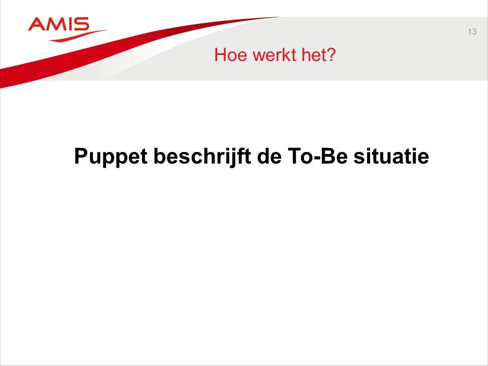 13 Hoe werkt het Puppet beschrijft de To-Be situatie