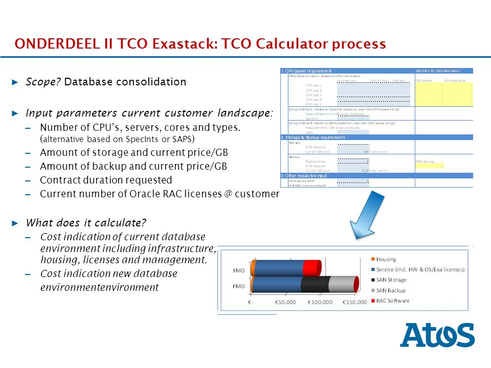 17-11-2011 ONDERDEEL II TCO Exastack: TCO Calculator process ▶ Scope.