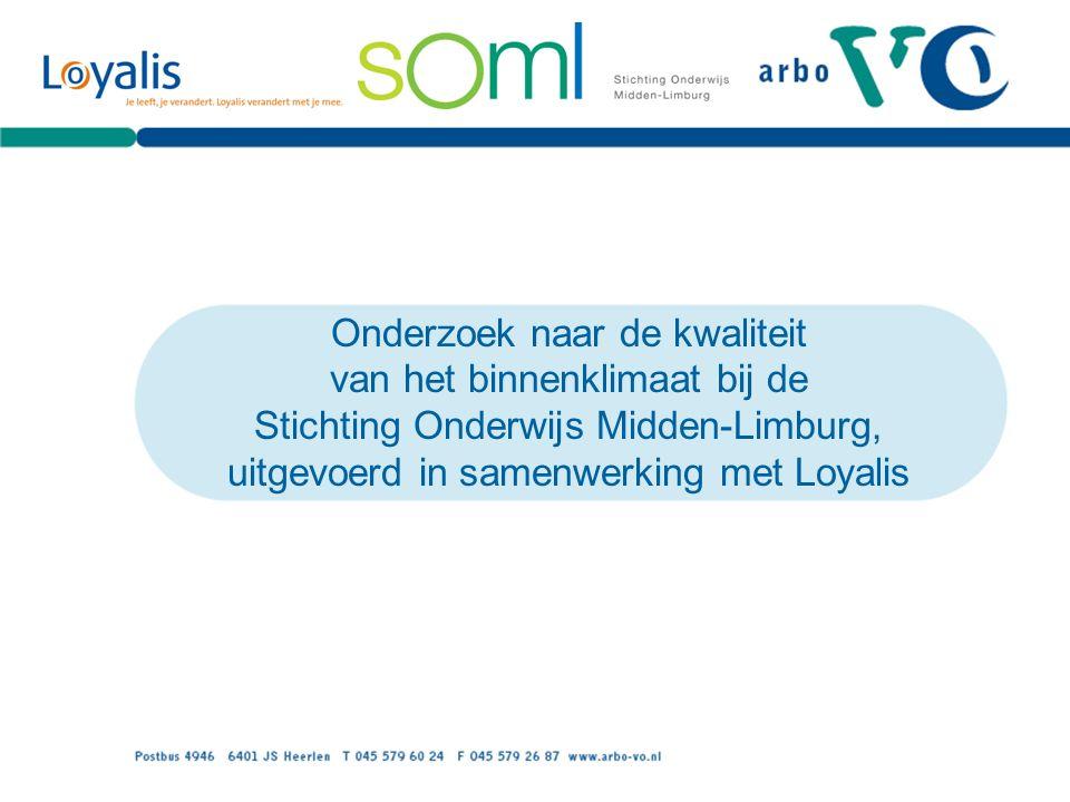 Onderzoek naar de kwaliteit van het binnenklimaat bij de Stichting Onderwijs Midden-Limburg, uitgevoerd in samenwerking met Loyalis