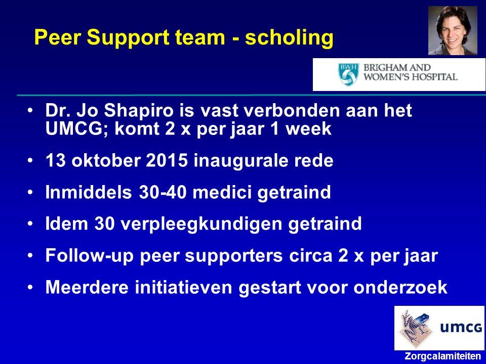 Zorgcalamiteiten Peer Support team - scholing Dr.