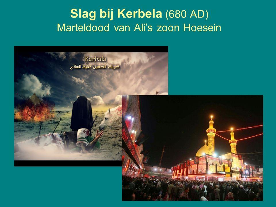 Slag bij Kerbela (680 AD) Marteldood van Ali's zoon Hoesein 21