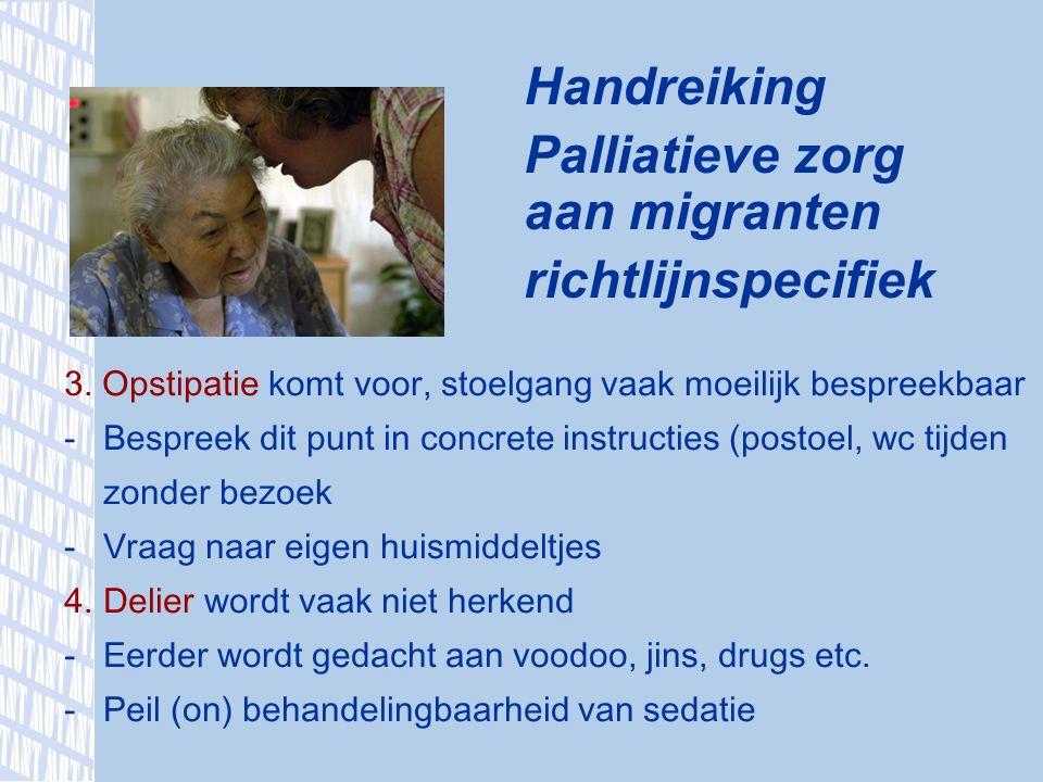 Handreiking Palliatieve zorg aan migranten richtlijnspecifiek 3.
