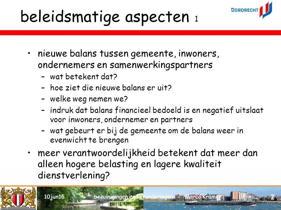 beleidsmatige aspecten 1 nieuwe balans tussen gemeente, inwoners, ondernemers en samenwerkingspartners –wat betekent dat.
