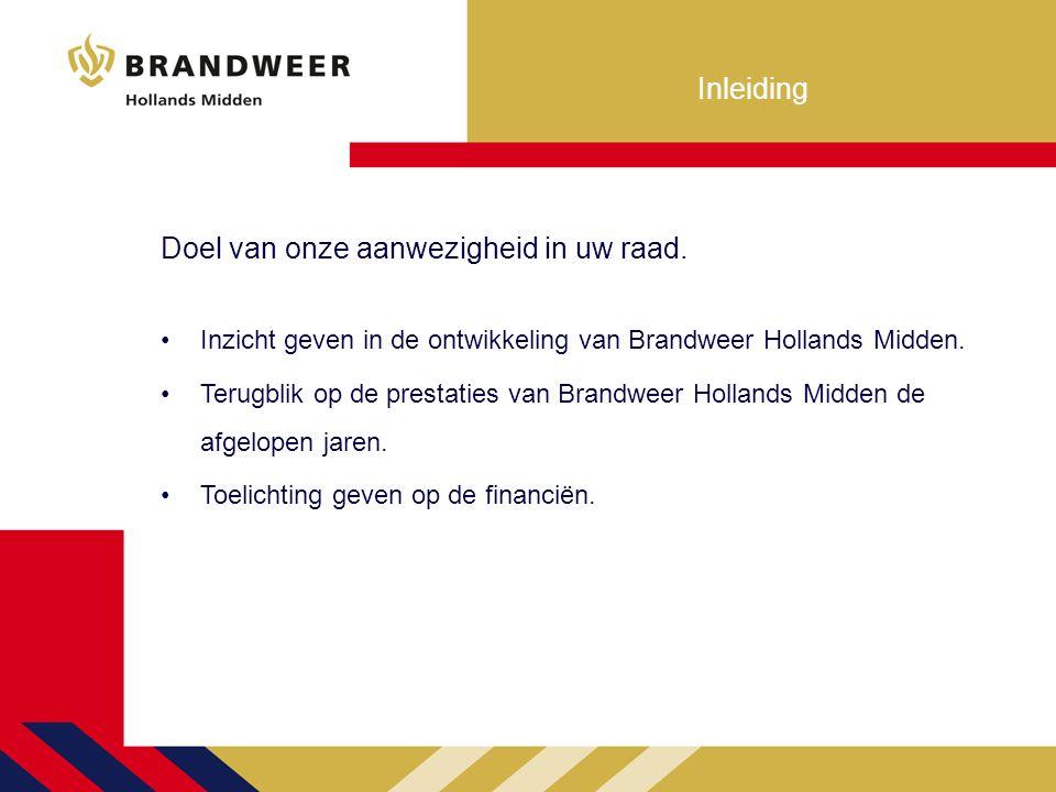 Brandweer Hollands Midden Kentallen Verzorgingsgebied van 831 km 2.