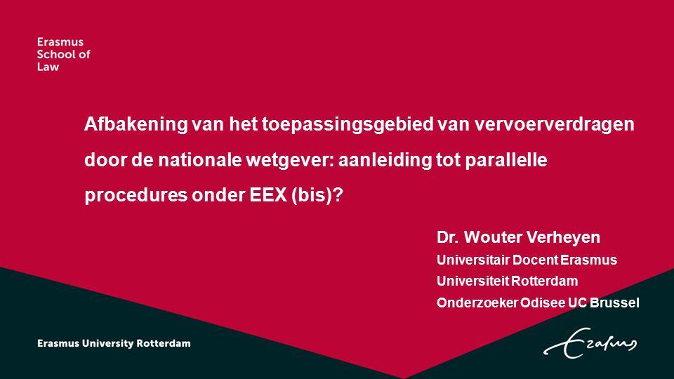 Afbakening van het toepassingsgebied van vervoerverdragen door de nationale wetgever: aanleiding tot parallelle procedures onder EEX (bis).
