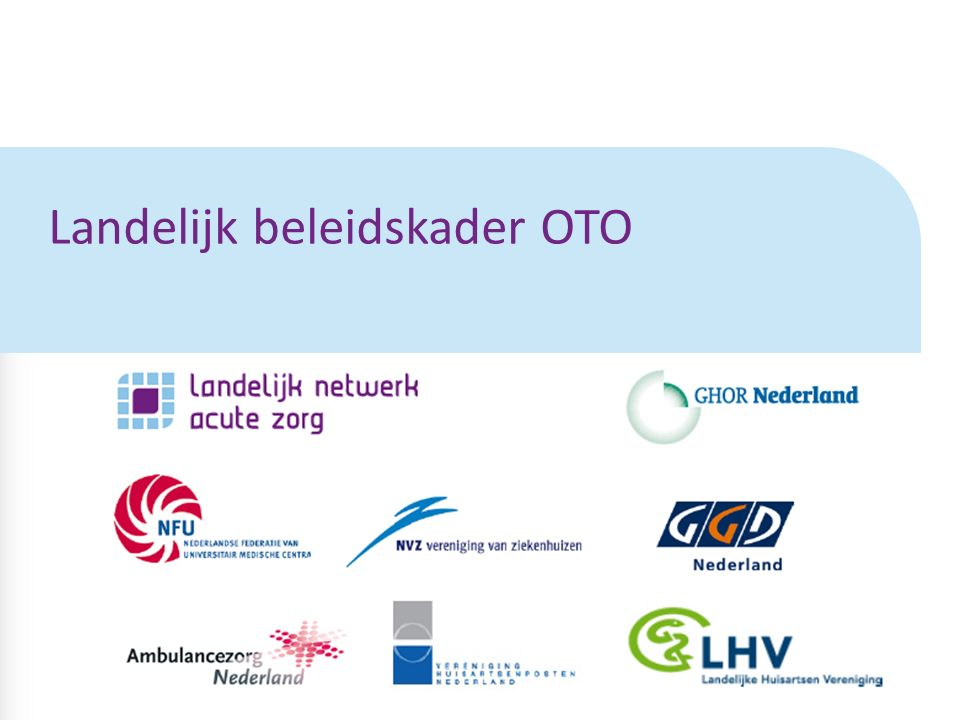 Landelijk beleidskader OTO