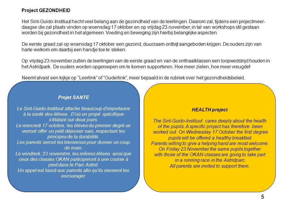 6 Demande d'ALLOCATION D'ETUDE Bien des parents d'élèves fréquentant le Sint-Guido- Instituut ont droit à un appui financier.