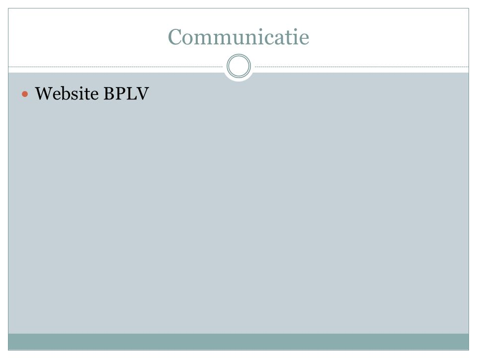 Communicatie Website BPLV