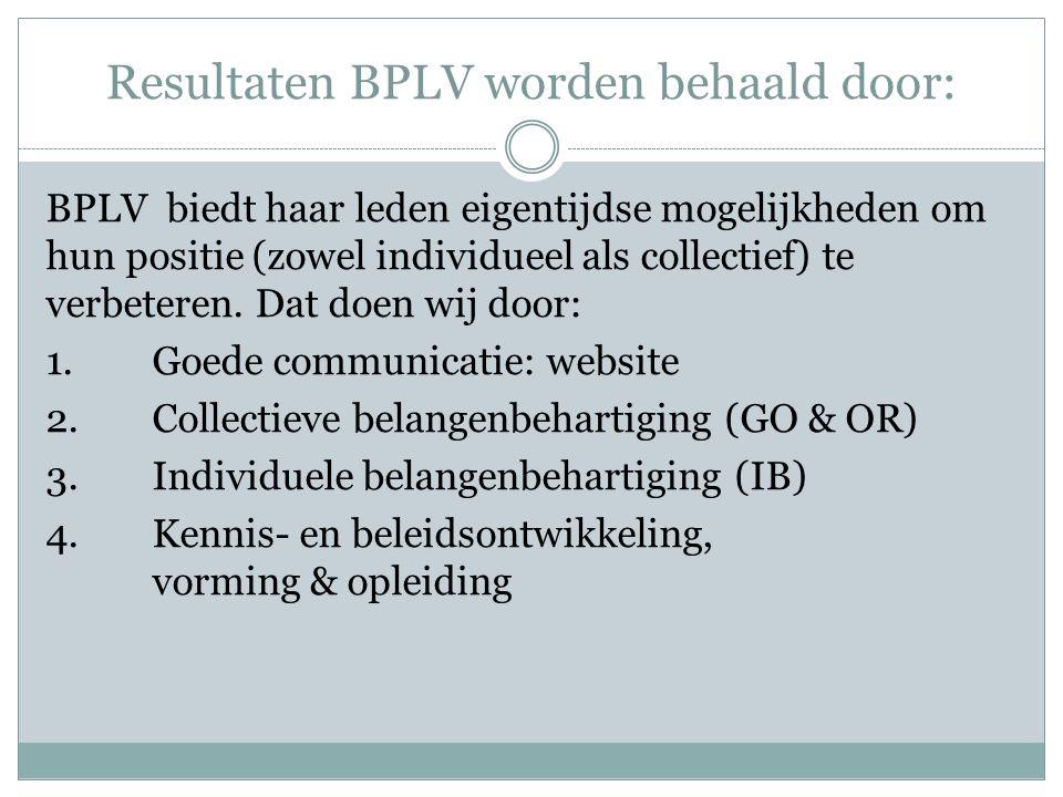 Statuten BPLV Zijn in ontwerpstadium