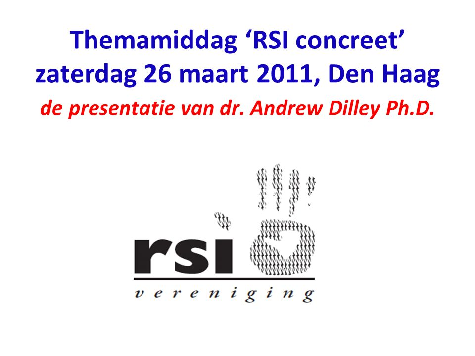 Wie is Dr.Andrew Dilley Ph.D..