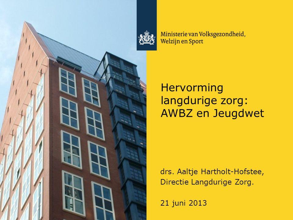 Hervorming langdurige zorg: AWBZ en Jeugdwet drs.