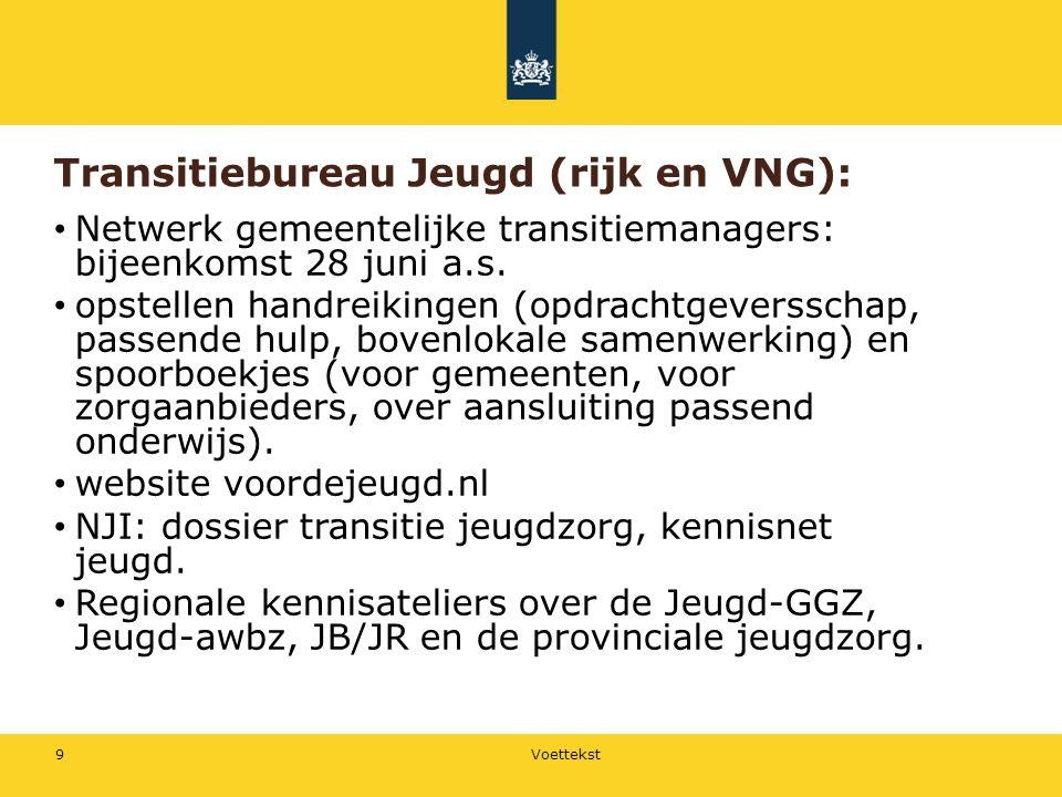 Transitiebureau Jeugd (rijk en VNG): Netwerk gemeentelijke transitiemanagers: bijeenkomst 28 juni a.s.