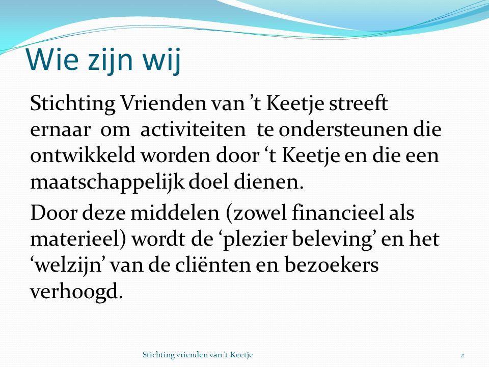 Wat willen we bereiken Het realiseren van een beleeftuin op het terrein van fruitkwekerij en zorgboerderij 't Keetje te Lutjebroek.