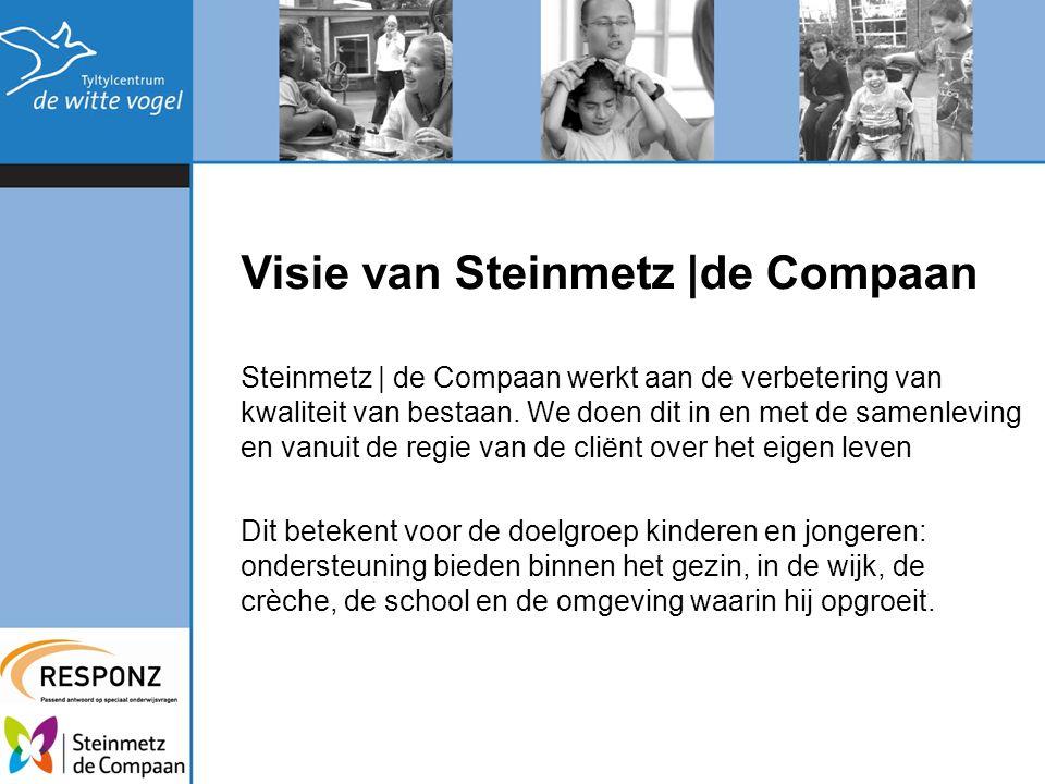 Visie van Steinmetz |de Compaan Steinmetz | de Compaan werkt aan de verbetering van kwaliteit van bestaan. We doen dit in en met de samenleving en van