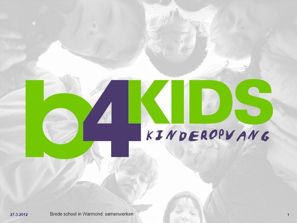 1 Brede school in Warmond: samenwerken 27-3-2012