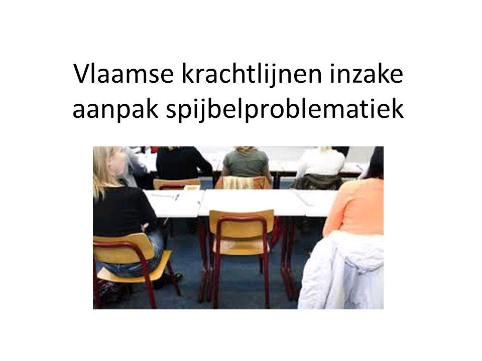 Vlaamse krachtlijnen inzake aanpak spijbelproblematiek