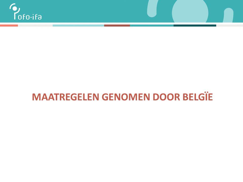 MAATREGELEN GENOMEN DOOR BELGÏE