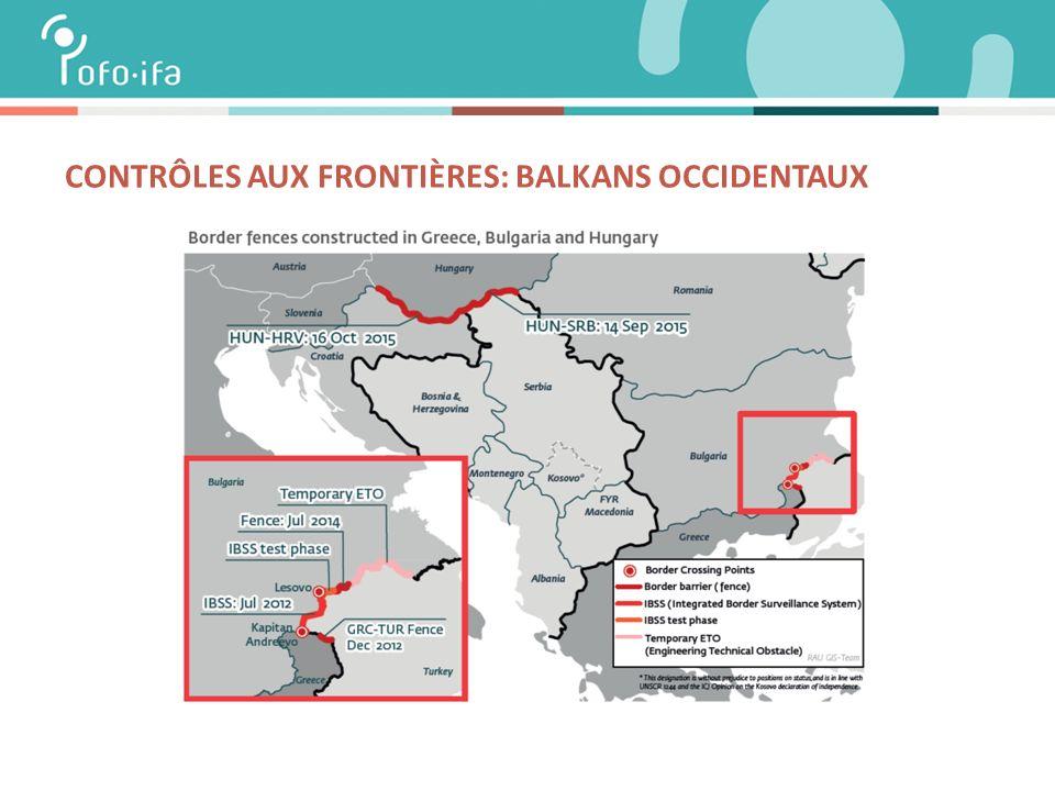 CONTRÔLES AUX FRONTIÈRES: BALKANS OCCIDENTAUX