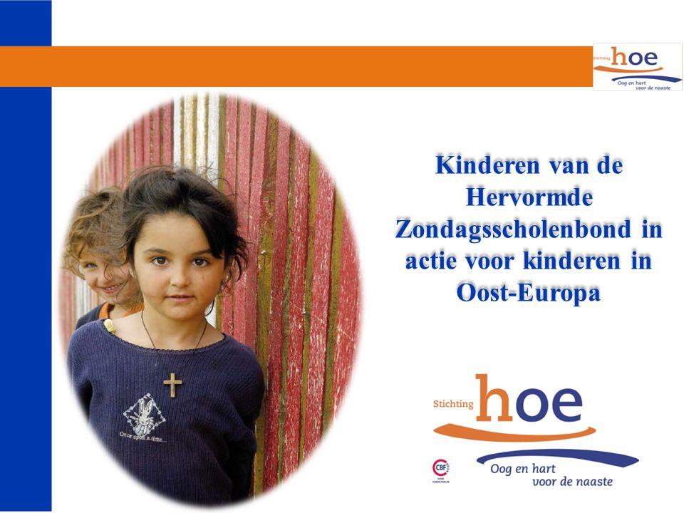 Kinderen van de Hervormde Zondagsscholenbond in actie voor kinderen in Oost-Europa