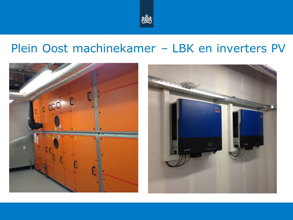 Plein Oost machinekamer – LBK en inverters PV