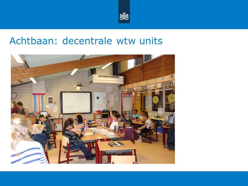 Achtbaan: decentrale wtw units