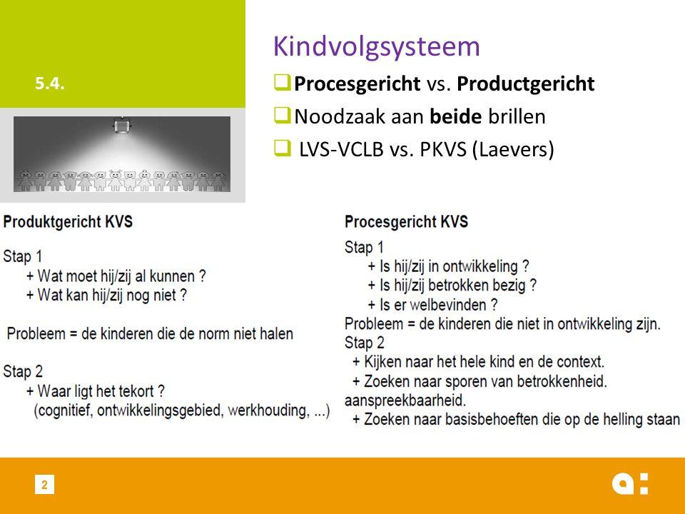 5.4. Kindvolgsysteem  Procesgericht vs.