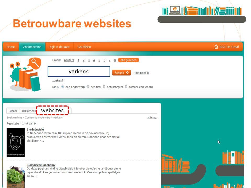 Betrouwbare websites websites varkens