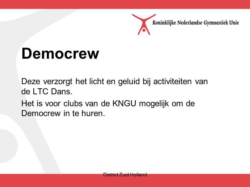 Democrew Deze verzorgt het licht en geluid bij activiteiten van de LTC Dans.