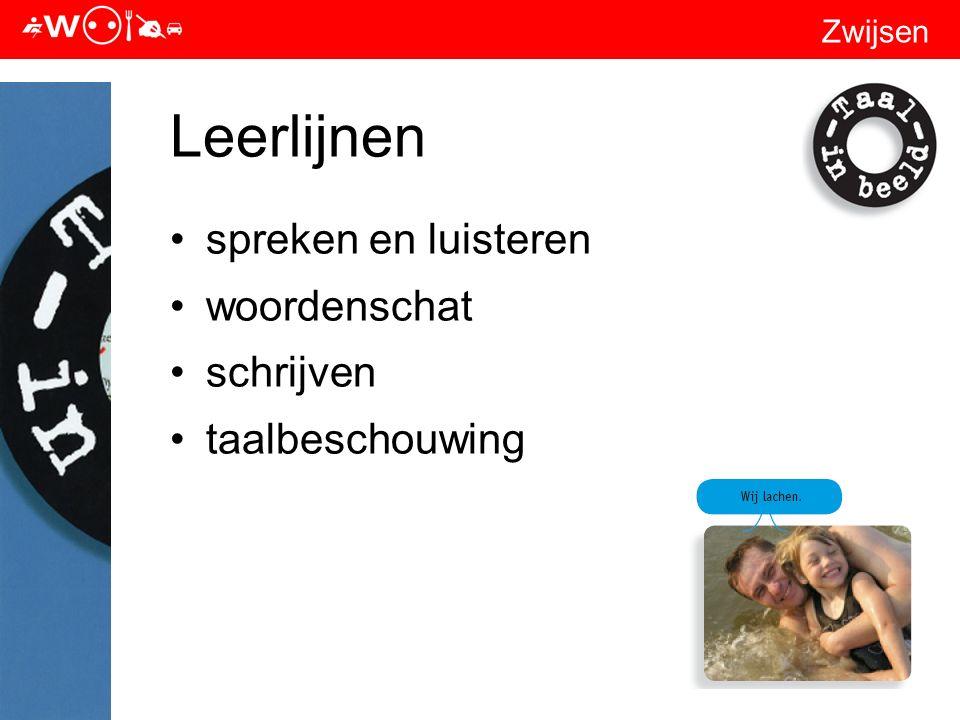 Zwijsen Leerlijnen spreken en luisteren woordenschat schrijven taalbeschouwing
