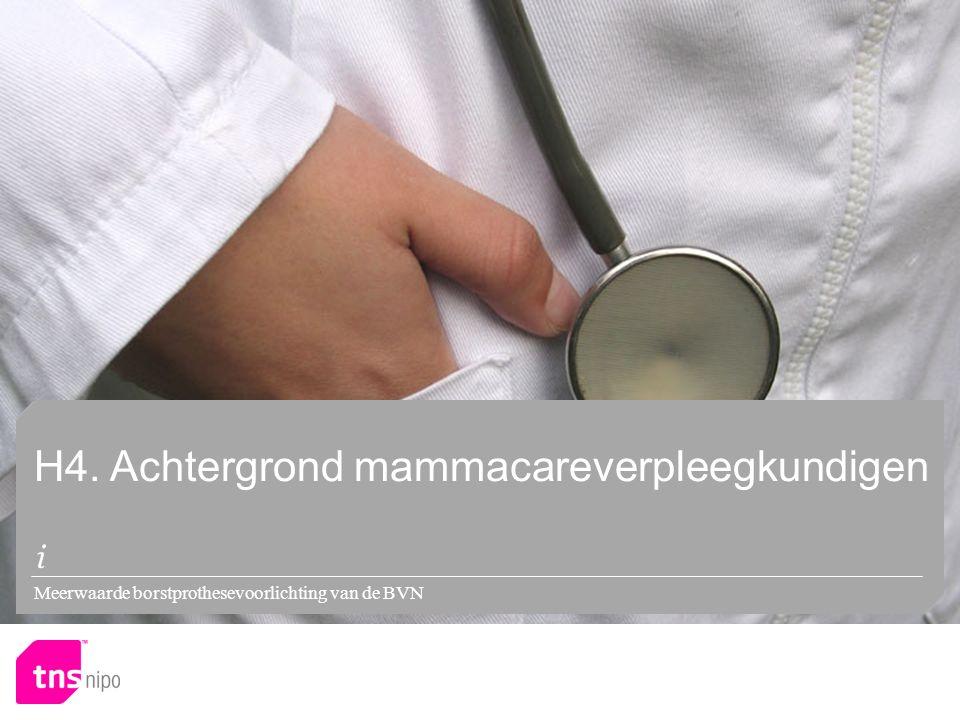 Meerwaarde borstprothesevoorlichting van de BVN H4. Achtergrond mammacareverpleegkundigen