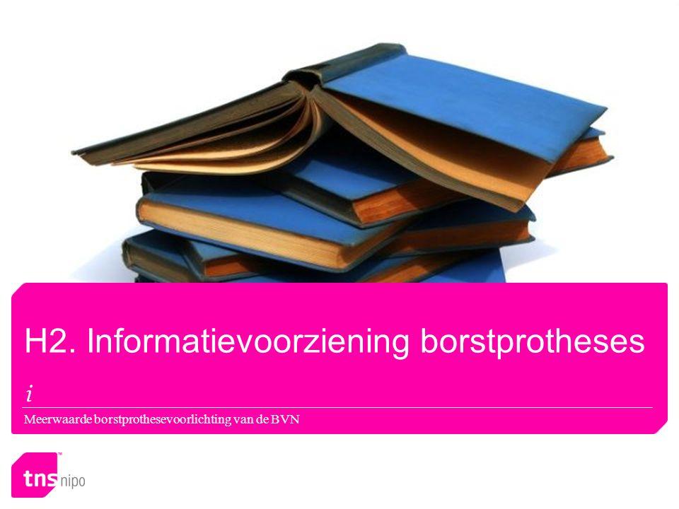 Meerwaarde borstprothesevoorlichting van de BVN H2. Informatievoorziening borstprotheses