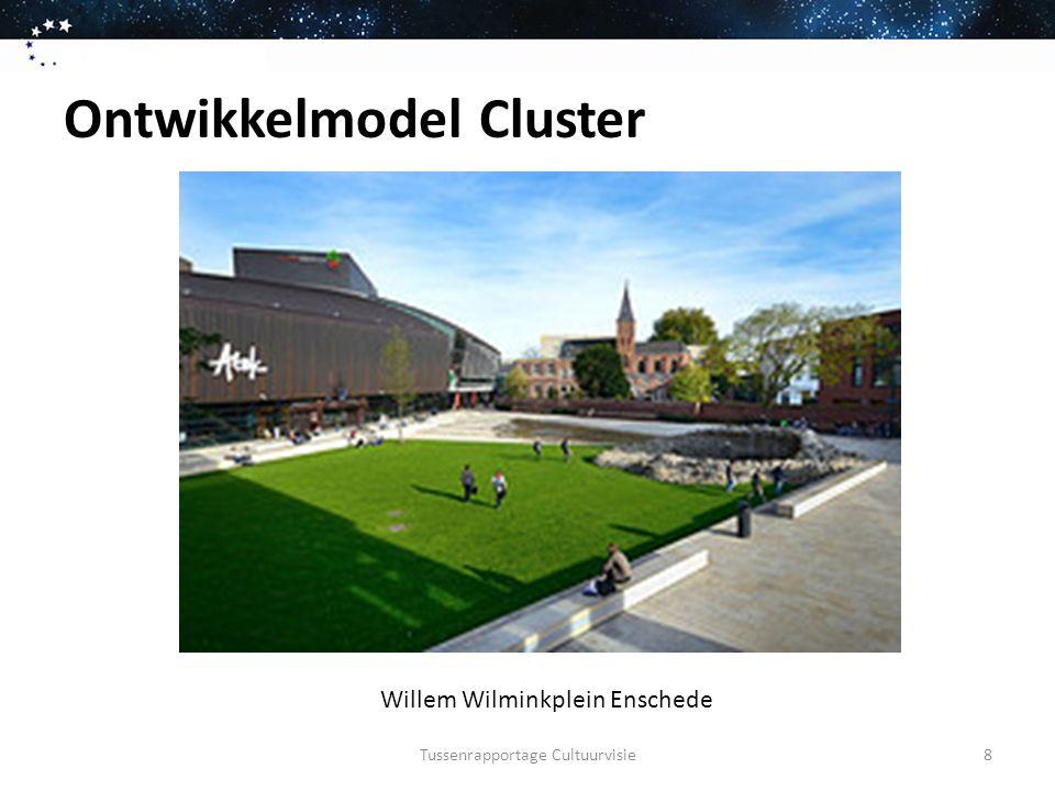 Ontwikkelmodel Cluster Tussenrapportage Cultuurvisie Willem Wilminkplein Enschede Theater Pop podium Restaurants Cafés en terrassen Hotel Festivalplein en stadstuin Naast station Aan stadscentrum 9