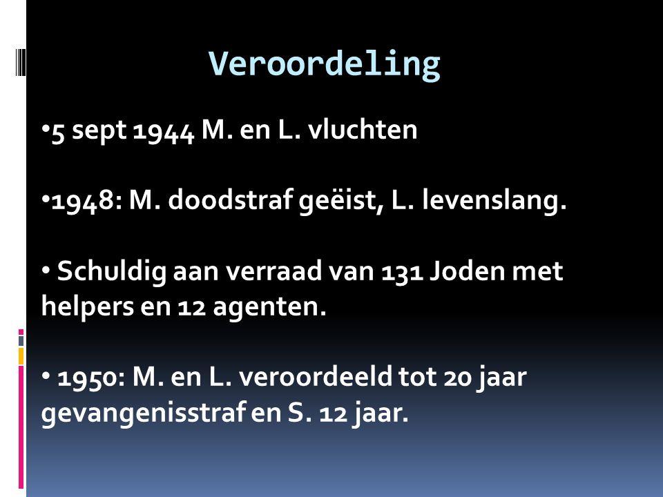 Veroordeling 5 sept 1944 M. en L. vluchten 1948: M.