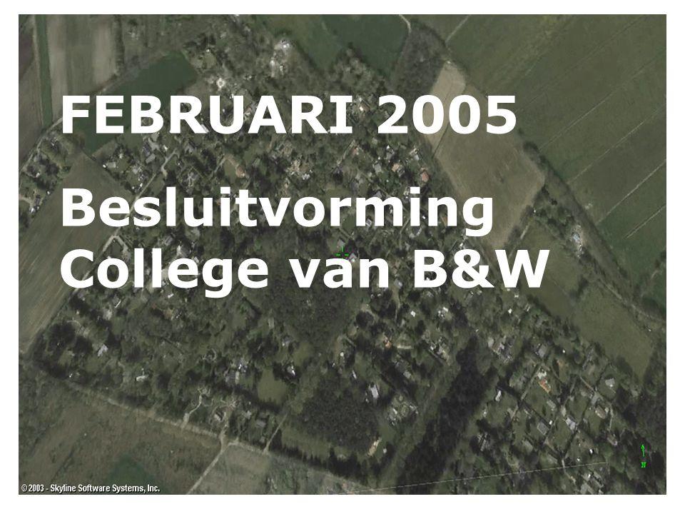 FEBRUARI 2005 Besluitvorming College van B&W
