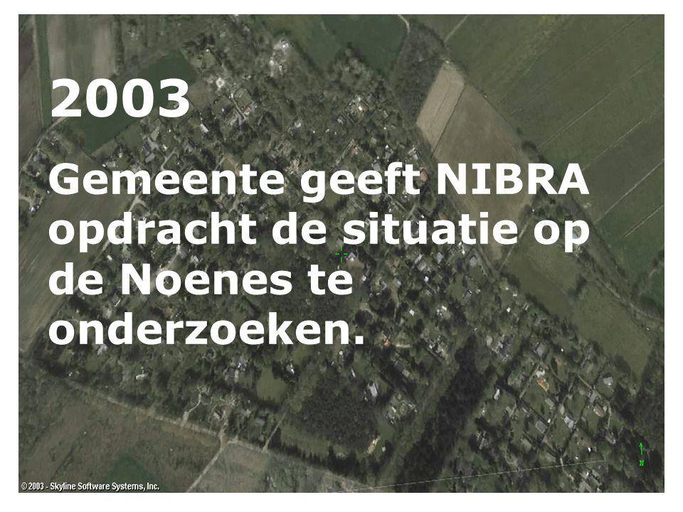2003 Gemeente geeft NIBRA opdracht de situatie op de Noenes te onderzoeken.