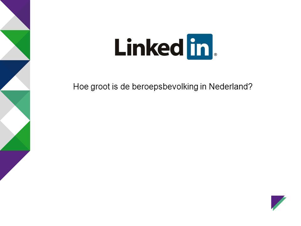 Hoe groot is de beroepsbevolking in Nederland?