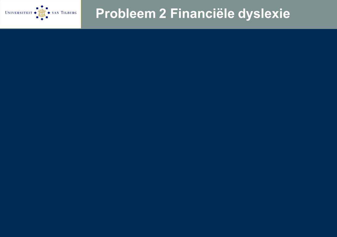 Probleem 2 Financiële dyslexie