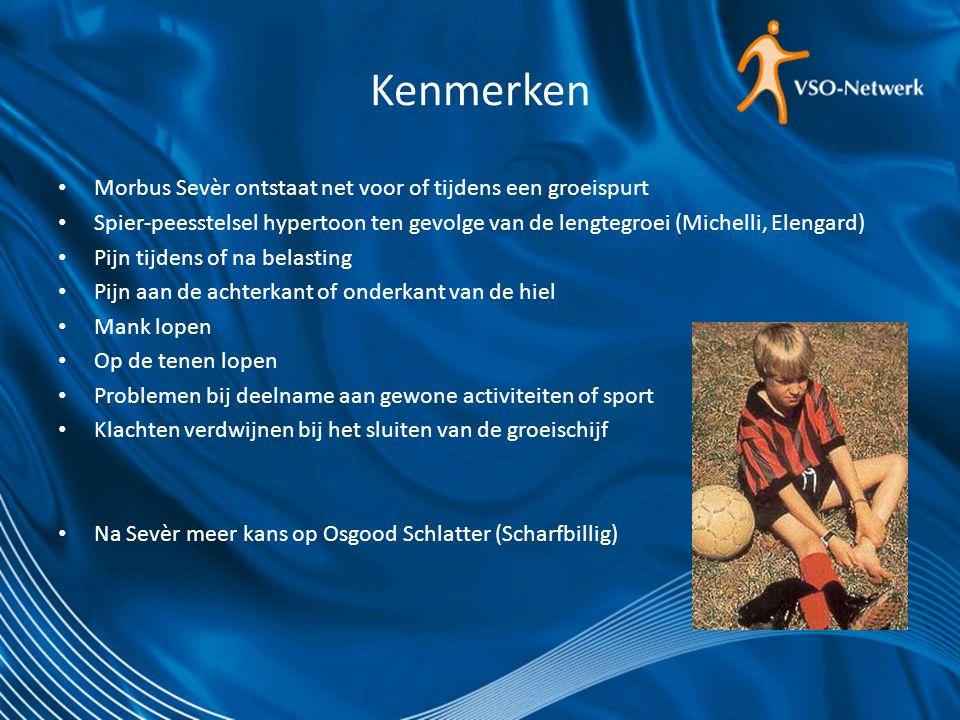 Predisponerende factoren Groei Loopgerelateerde sporten Biomechanica van de voet (valgusstand, overpronatie, hoge wreef) Verminderde coördinatie (motor skills) Intensivering van belasting Overgewicht Insufficiënt schoeisel Harde ondergrond (Perhamre, Elengard)
