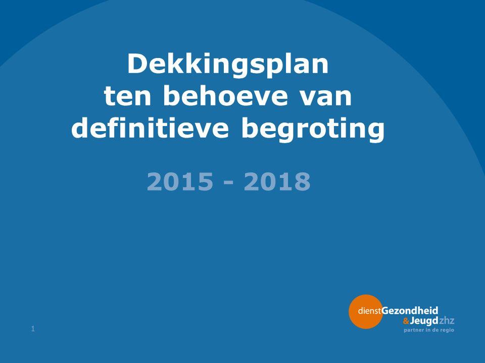 Dekkingsplan ten behoeve van definitieve begroting 2015 - 2018 1