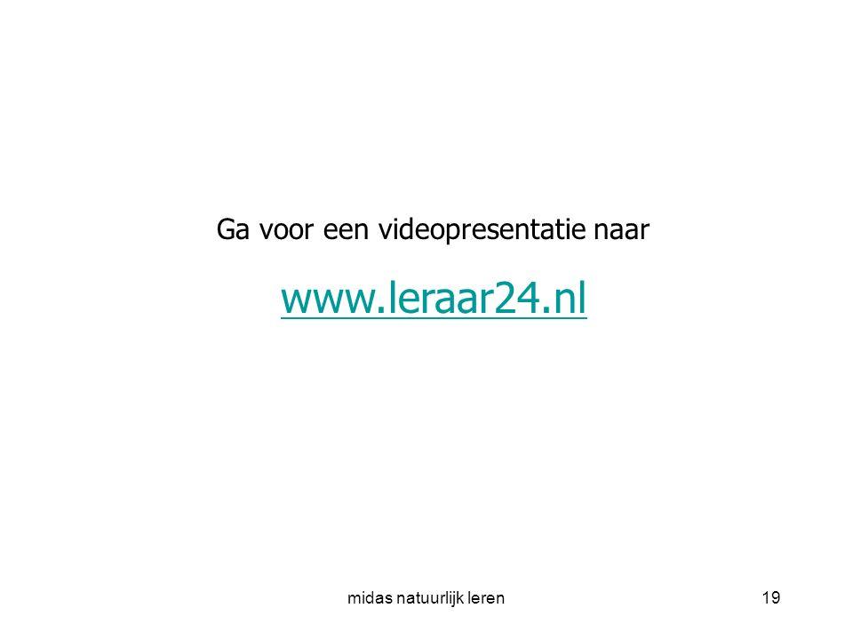 midas natuurlijk leren19 Ga voor een videopresentatie naar www.leraar24.nl