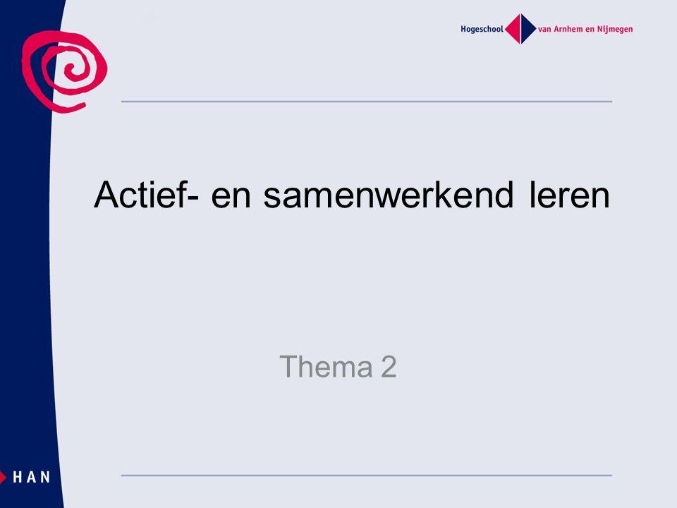 Tot slot http://www.slo.nl/downloads/archief/activer ende-werkvormen.pdf/http://www.slo.nl/downloads/archief/activer ende-werkvormen.pdf/ Voorbeelden van activerende werkvormen Huiswerk: zie Wiki